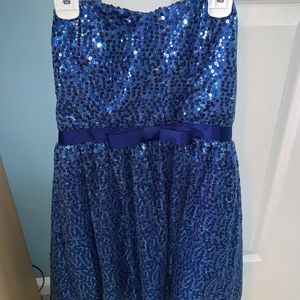 Delia's strapless blue dress with sequins